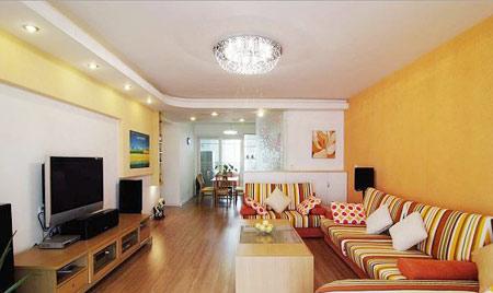 100平米房子装修,不算小,业主打造了宽敞的两室两厅.效果