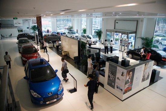 东风标致4S店展厅 -东风标致推出 升蓝计划 巩固品牌优势高清图片